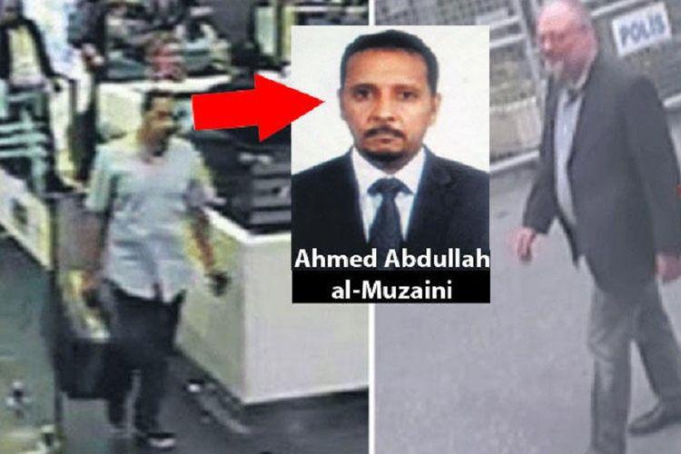 Inilah Ahmed Abdullah al-Muzaini, sosok yang disebut sebagai kurir dalam kasus pembunuhan jurnalis Arab Saudi Jamal Khashoggi. Foto kiri ketika dia kembali dari Riyadh pada 1 Oktober.