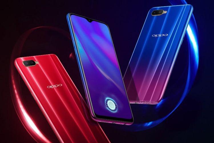 Oppo K1 merupakan ponsel pertama Oppo yang memiliki fitur fingerprint scanner di bawah layar.