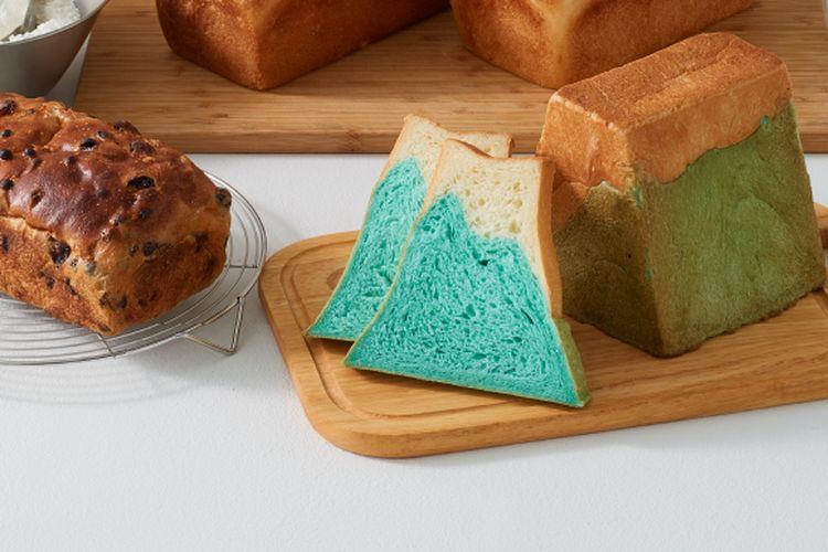 Roti-roti Fujisan Shokupan yang terinspirasi dari Gn. Fuji.