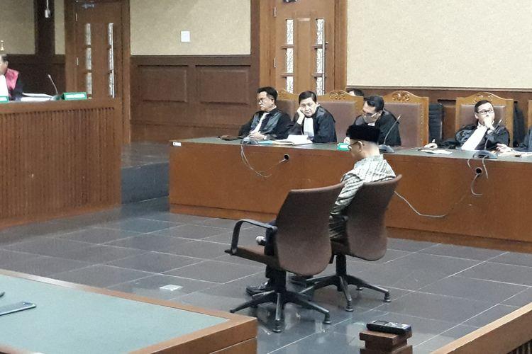 Jaksa KPK memberikan tanggapan atas eksepsi terdakwa mantan Kepala BPPN, Syafruddin Arsyad Temenggung dalam persidangan di Pengadilan Tipikor Jakarta, Senin (28/5/2018).