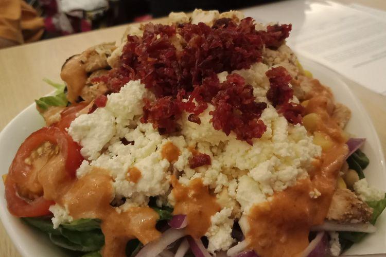Salah satu menu seasonal SaladStop! yang diperkenalkan Januari 2019 di SaladStop! Senayan City, Jakarta, Rabu (16/1/2019), Tomato Tango.