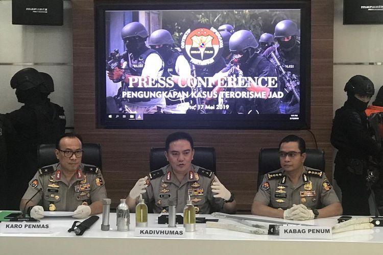 Kepala Divisi Humas Polri Inspektur Jenderal M Iqbal saat konferensi pers di Gedung Humas Mabes Polri, Jakarta Selatan, Jumat (17/5/2019).