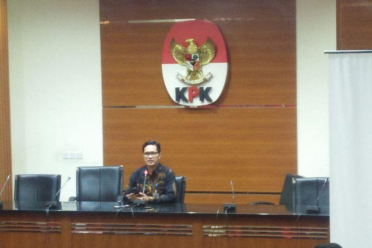 Juru Bicara KPK Febri Diansyah di kantor KPK, Jakarta Selatan, Senin (10/6/2019).