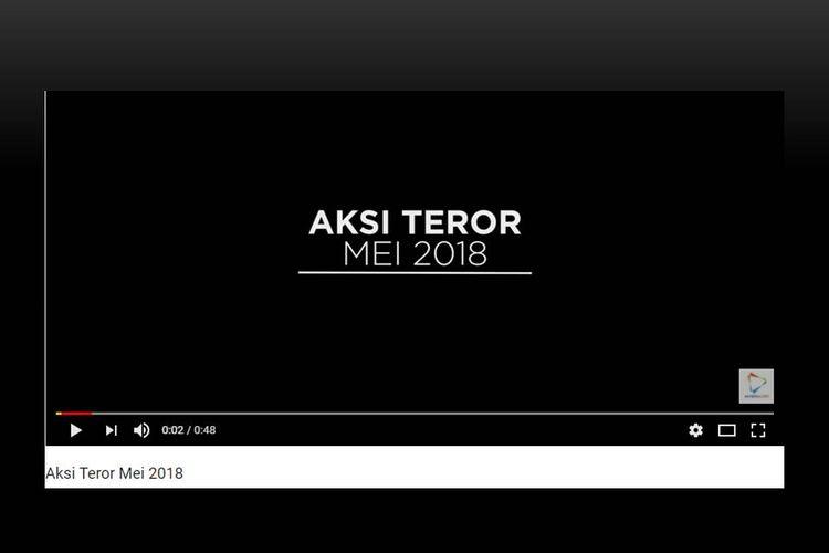 Video aksi teror Mei 2018