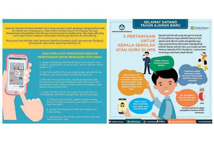 Imbauan Kemdikbud kepada orangtua pada tahun ajaran baru.