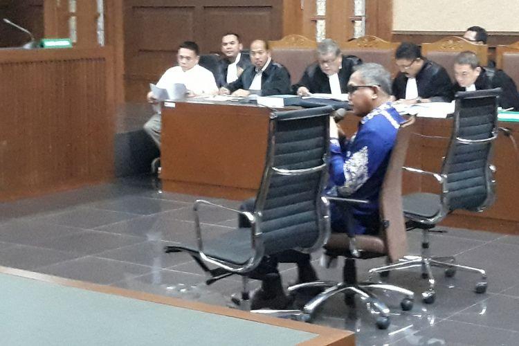 Plt Gubernur Aceh, Nova Iriansyah di Pengadilan Tipikor Jakarta, Senin (10/12/2018).