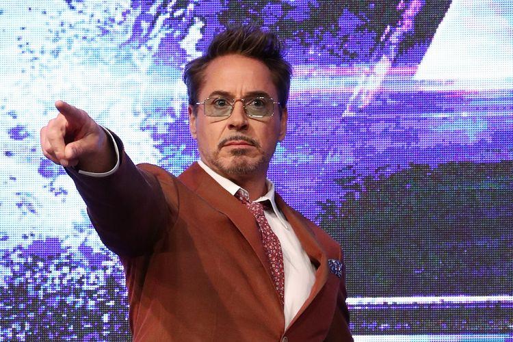 Robert Downey Jr menghadiri press conference untuk film Avengers: Endgame di Seoul, South Korea, pada 15 April 2019.