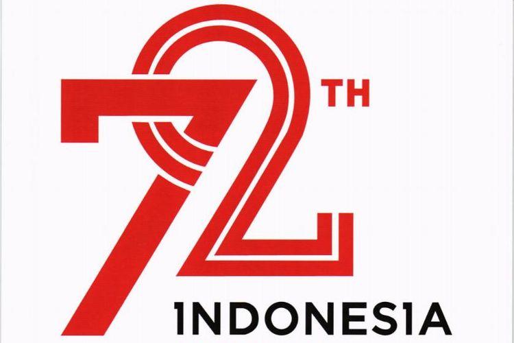 Usung Indonesia Kerja Bersama Ini Logo Hut Ke 72 Ri Kompas Com