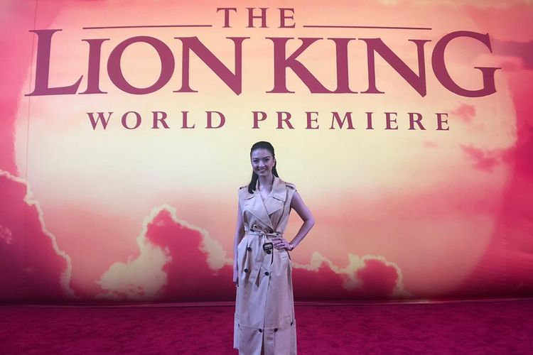 Raline Shah menghadiri World Premiere film The Lion King di Dolby Theatre, Hollywood & Highland, California pada 9 Juli 2019 malam.