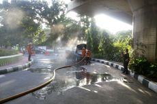 Mobil Mercedes-Benz Terbakar di Prapanca