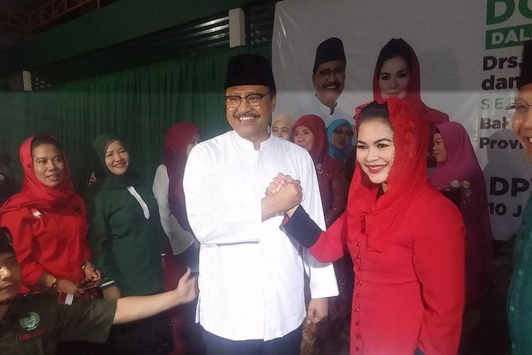 Saifullah Yusuf bersama Puti Guntur Soekarnoputri resmi mendaftarkan diri sebagai pasangan calon Gubernur-Wakil Gubernur Jawa Timur pada pilkada Jawa Timur 2018