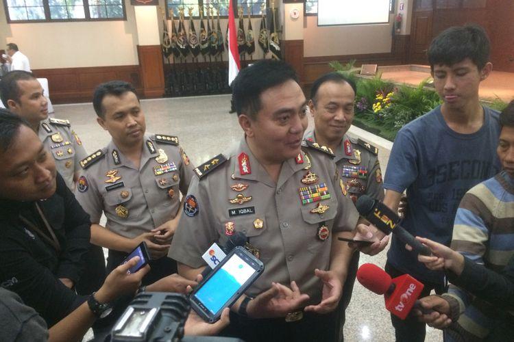 Kepala Divisi Humas Polri Irjen Pol Muhammad Iqbal di Gedung Rupatama Mabes Polri, Jakarta Selatan, Kamis (10/1/2019).