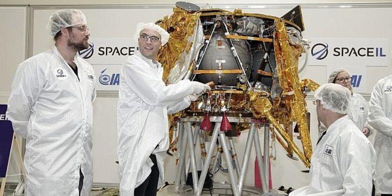 Beresheet, pesawat ruang angkasa teringan dan termurah yang disiapkan Israel untuk menjelajah bulan.