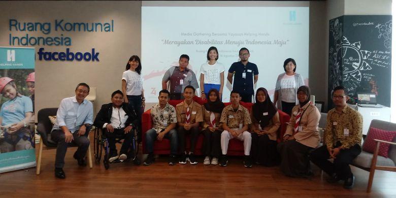 Diskusi publik Merayakan Disabilitas Menuju Indonesia Maju, yang digelar Yayasan Helping Hands pada Rabu, 14 Agustus 2019 di Ruang Komunal Indonesia from Facebook, Jakarta.