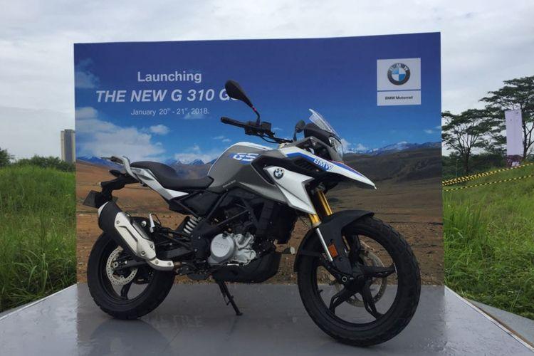 BMW Motorrad Indonesia meluncurkan model terbaru, G 310 GS, di Tangerang, Sabtu (20/1/2018).