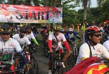 Sepeda Nusantara Tempuh Rute Terpanjang di Lampung Timur