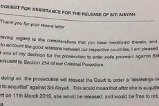Ini Isi Surat Jaksa Agung Malaysia Terkait Bebasnya Siti Aisyah