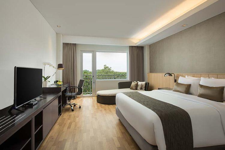 Kamar di Delonix Hotel Karawang.