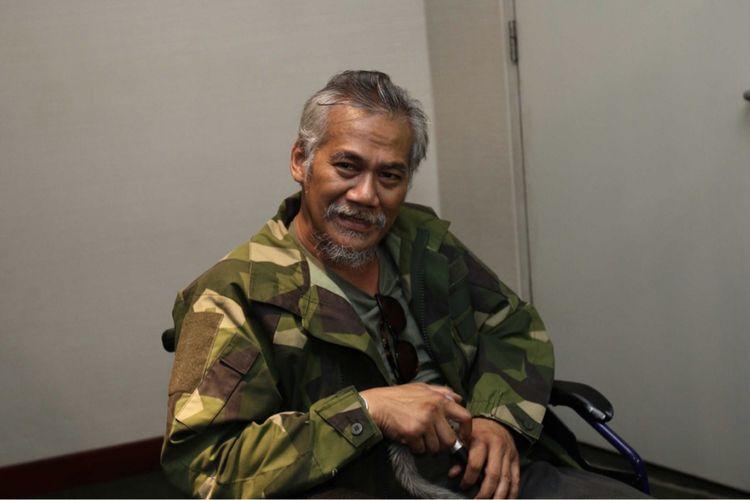 Artis peran Tio Pakusadewo diabadikan di Kemang Village, Jakarta Selatan, Rabu (11/11/2017).