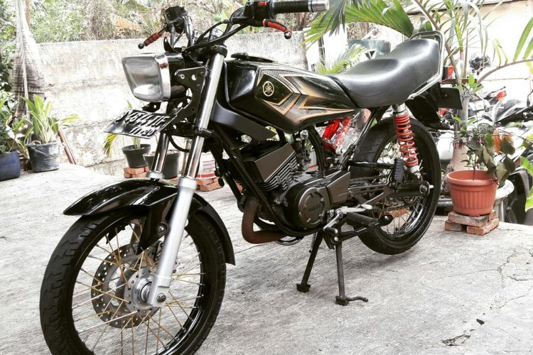 Motor RX King milik Aryo, jurnalis salah satu media televisi swasta. (Dokumentasi pribadi).