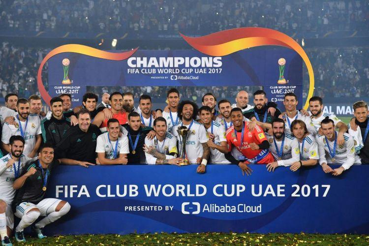 Real Madrid menjadi juara Piala Dunia Antarklub 2017 seusai mengalahkan Gremio pada laga final di Abu Dhabi, Sabtu (16/12/2017).