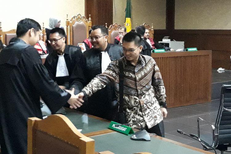 Aditya Moha seusai menjalani sidang putusan di Pengadilan Tipikor Jakarta, Rabu (6/6/2018).