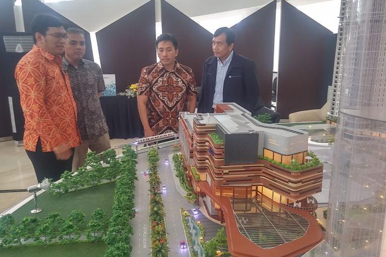 Maket apartemen pelajar Grand Dharmahusada Lagoon Surabaya