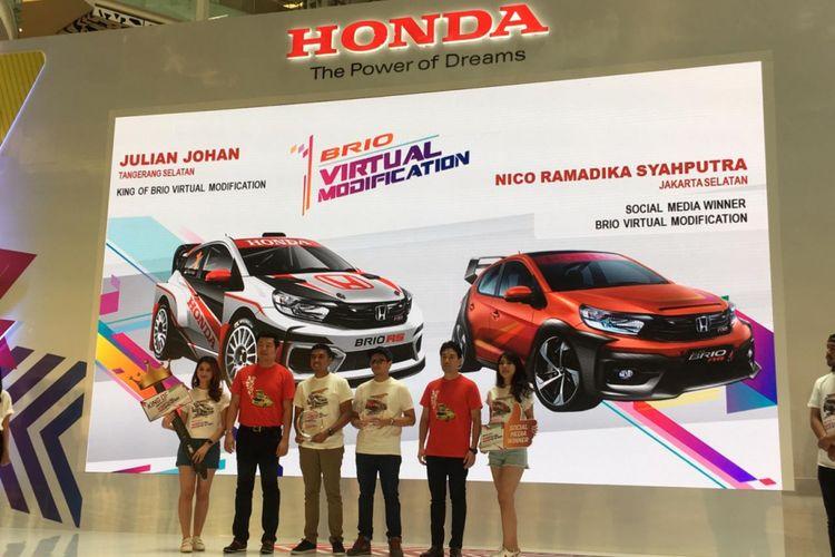 Pemenang lomba ?Honda Brio Virtual Modification? 2018.