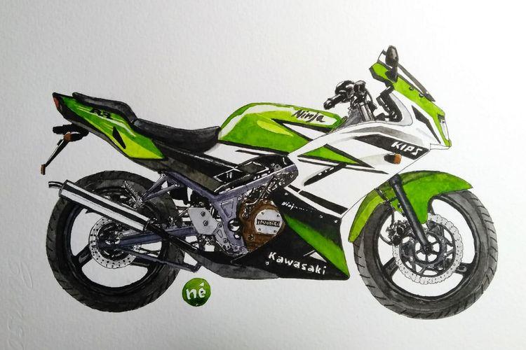 Kawasaki Ninja 150 RR 30th Anniversary Edition.