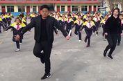 Kepala Sekolah di China Ajak Para Murid Menari 'Shuffle Dance'