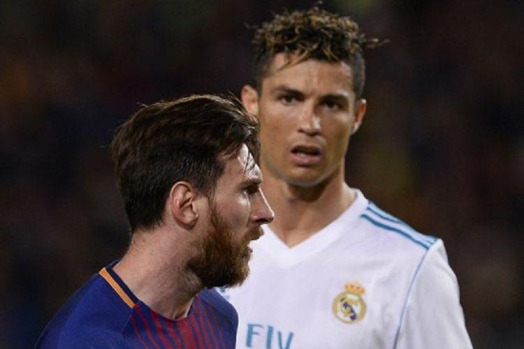 Lionel Messi dan Cristiano Ronaldo tampil penuh emosi pada laga El Clasico antara Barcelona dan Real Madrid di Camp Nou, 6 Mei 2018.