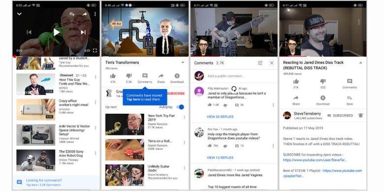 Ilustrasi fitur tombol Comment di YouTube
