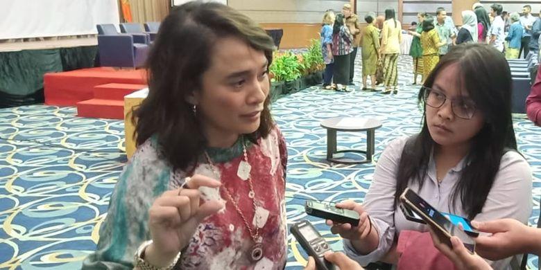 Nova Riyanti Yusuf (Komisi IX DPR RI) dalam Peluncuran dan Bedah Buku Jiwa Sehat, Negara Kuat di Kampus Atma Jaya Jakarta (13/8/2019).