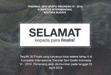Tiga Seniman Dalam Negeri Masuk Final Triennial Seni Grafis Indonesia VI-2018