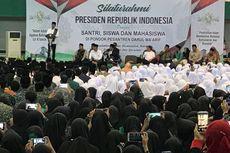Di Ponpes Darul Ma'arif, Presiden Janji Bangun Asrama