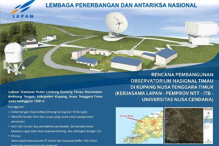 Situs Observatorium Nasional dan Taman Nasional Langit Gelap di Kupang, NTT.