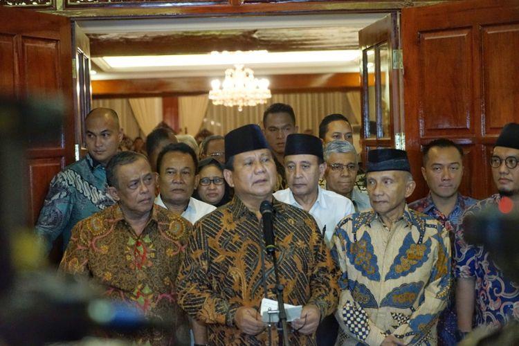 Calon Presiden Prabowo Subianto  Keterangan Pers Terkait Dugaan Penganiayaan Dialami Ratna Sarumpaet