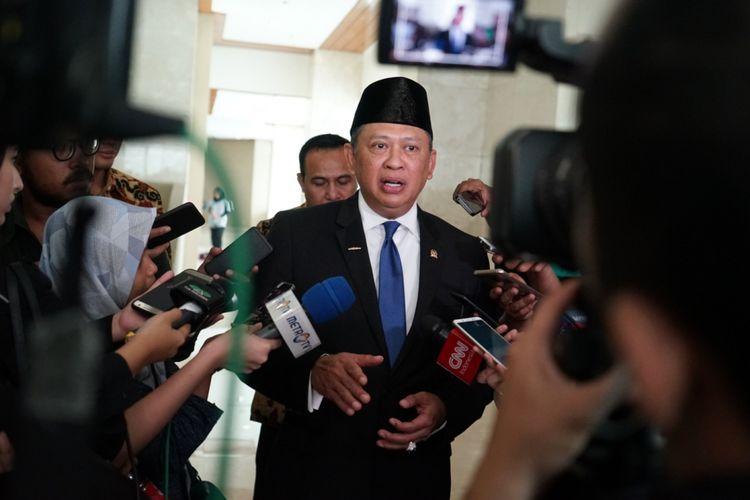 Ketua DPR Bambang Soesatyo di Kompleks Parlemen, Senayan, Jakarta, Selasa (16/10/2018).
