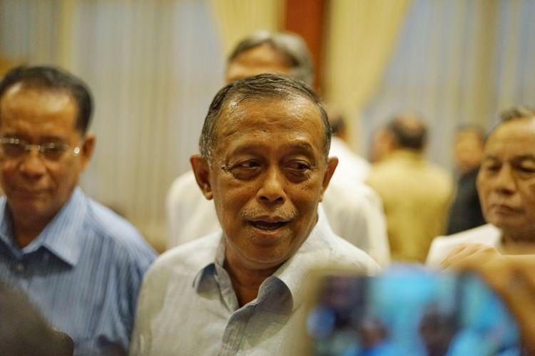 Ketua Badan Pemenangan Nasional (BPN) pasangan Prabowo Subianto-Sandiaga Uno, Djoko Santoso, di kediaman Prabowo, Jalan Kertanegara, Jakarta Selatan, Rabu (8/5/2019).