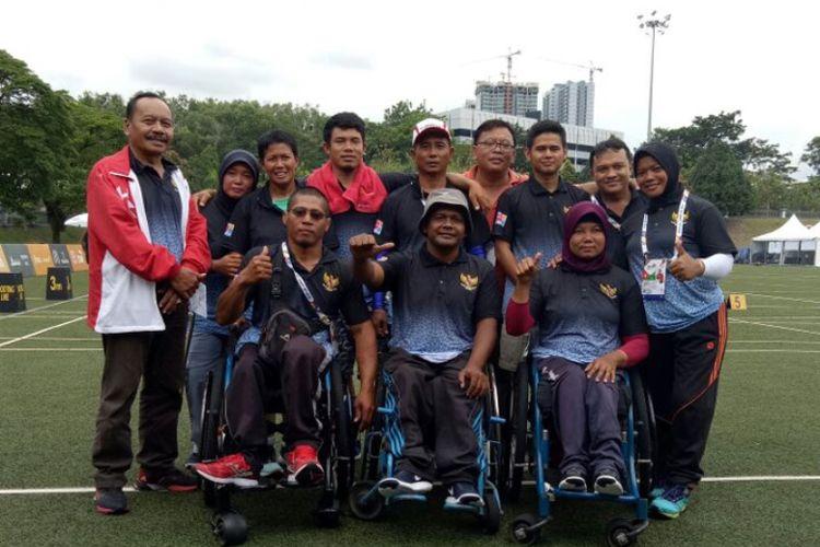 Tim panahan Indonesia di ajang ASEAN Paragames 2017