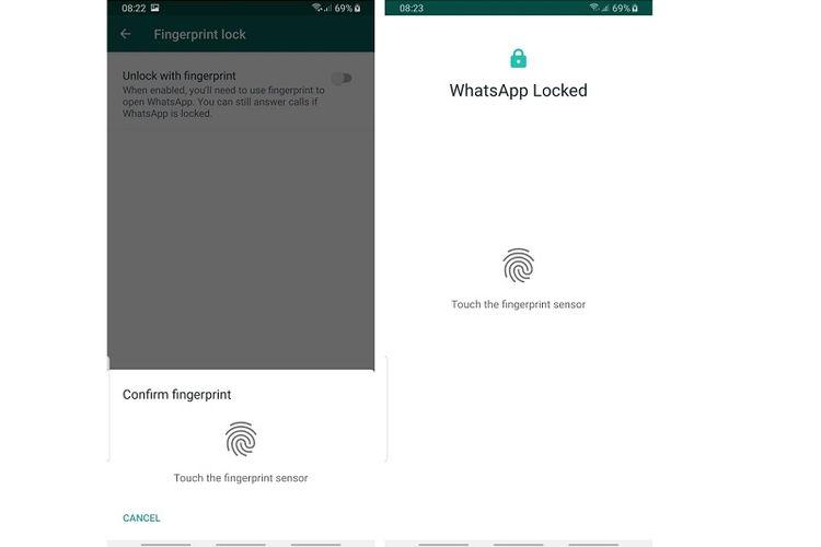 Fitur keamanan fingerprint di WhatsApp