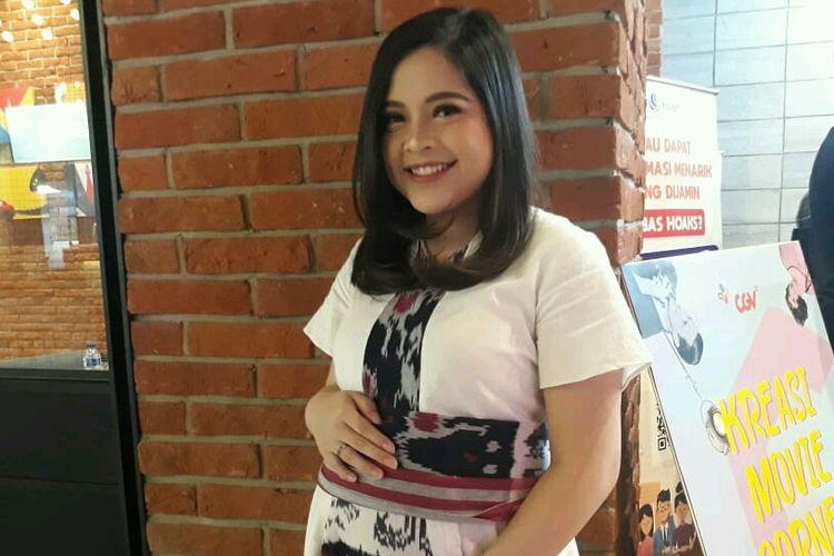 Artis Tasya Kamila saat ditemui dalam sebuah acara di kawasan Senayan, Jakarta Selatan, Kamis (14/3/2019).
