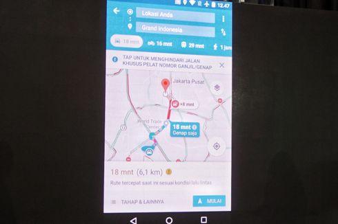 Google Maps Kini Bisa Dipakai Hindari Jalur Ganjil-Genap