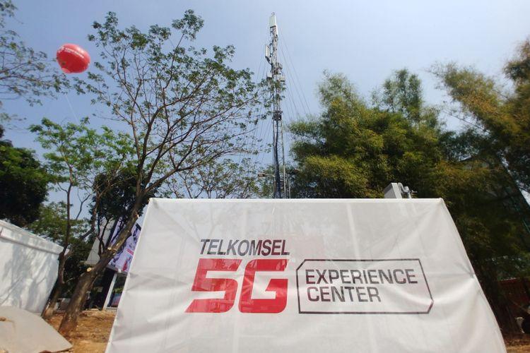 BTS 5G Telkomsel di kompleks GBK.