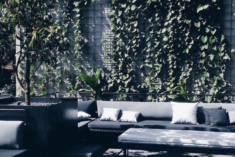 Coffee shop yang memiliki area sitting outdoor ini cocok until mempercantik feed instagram anda.