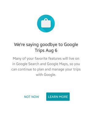 Ilustrasi keterangan resmi Google di Google Trips