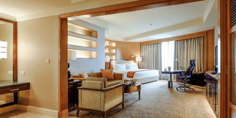 Salah satu kamar di Ayana Midplaza Jakarta.