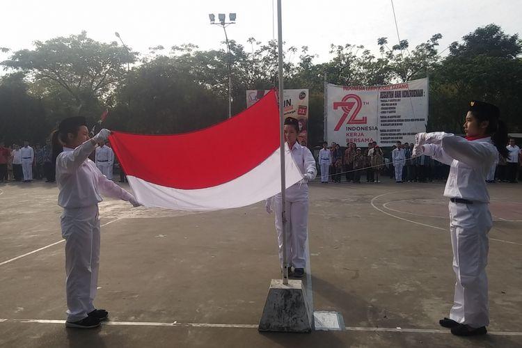 Upacara HUT RI ke-72 di Gereja Katolik Santo Yakobus Surabaya