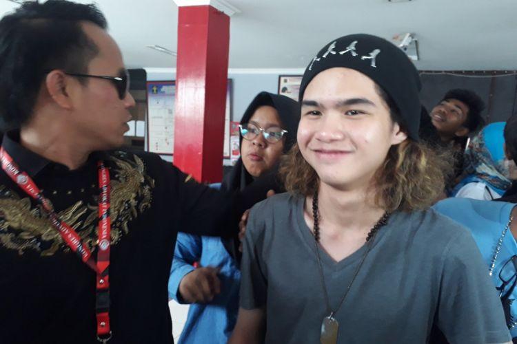 Abdul Qodir Jailani usai menjenguk Ahmad Dhani di Rutan Medaeng, Sabtu (2/3/2019)