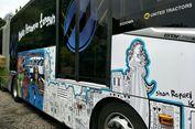 Ini Penampakan Bus Transjakarta yang Dilukis Anak-anak Autisme
